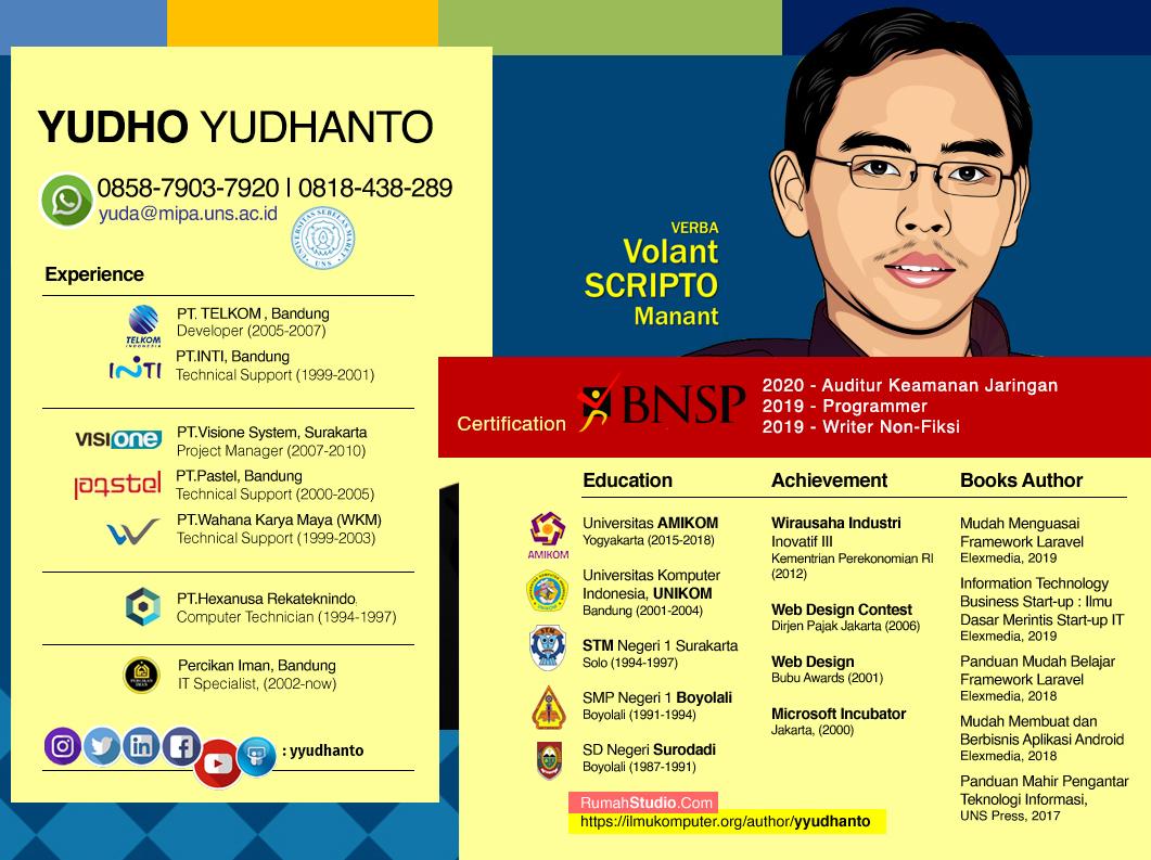 CV Profil Yudha Yudho Yudhanto